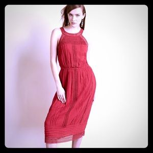 Joie red brick dress
